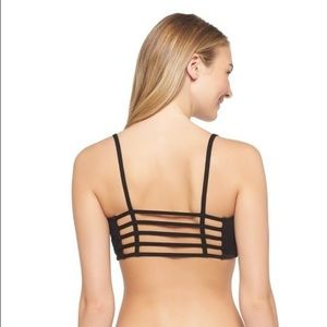 Xhilaration Black Strappy Cage Perfect Bralette